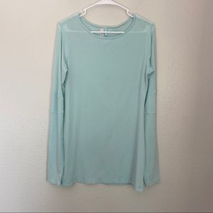 Lululemon Round Neck Blue Long Sleeve Top